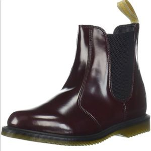 New Dr.Martens Vegan Flora Cherry red boots, 7